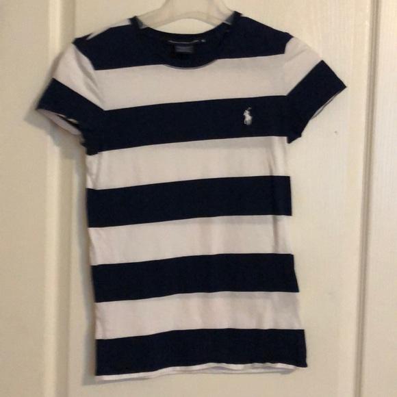 Ralph Lauren t shirt. Navy and white striped